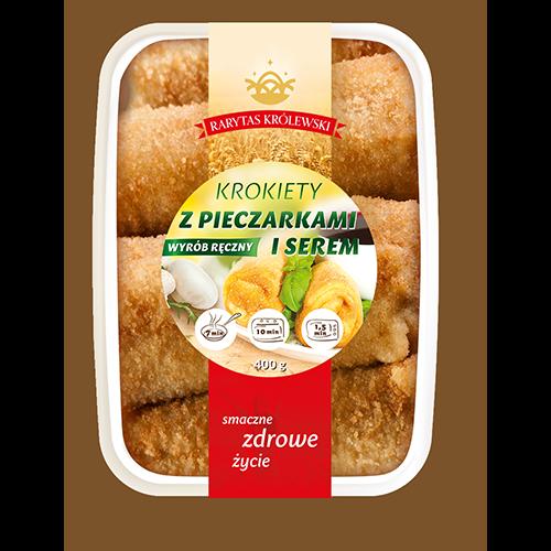 Kroketten mit Pilze und Mozzarella