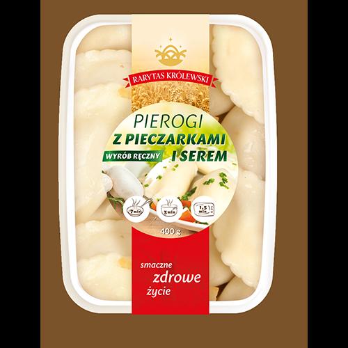 Pirrogen mit Käse und Pilzen
